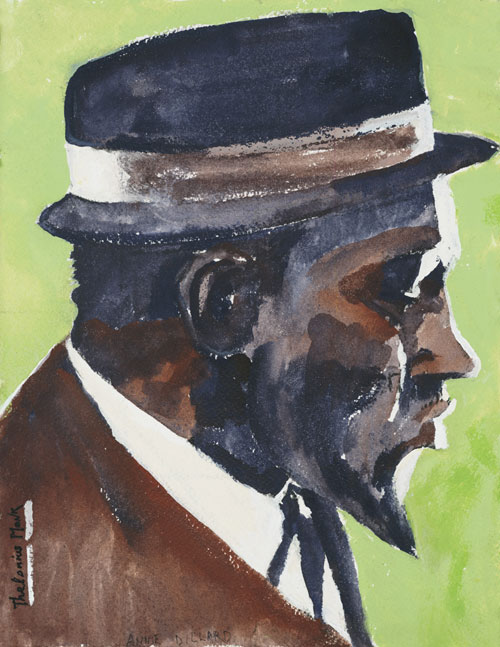 Thelonius Monk - painting by Annie Dillard